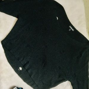 "Express ""Holey"" Tunic Sweater"